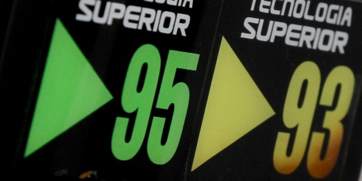 Precio de las bencinas será $23 más bajo tras fortalecimiento del Sipco