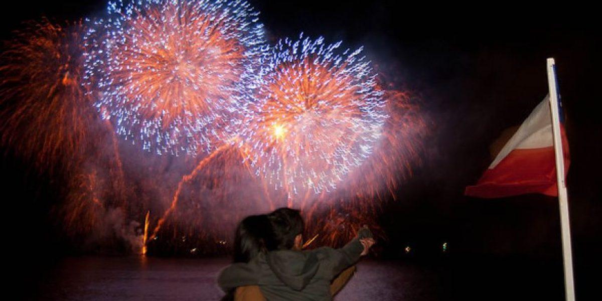 [FOTOS] Con fuegos artificiales Viña del Mar dio el vamos a las Fiestas Patrias