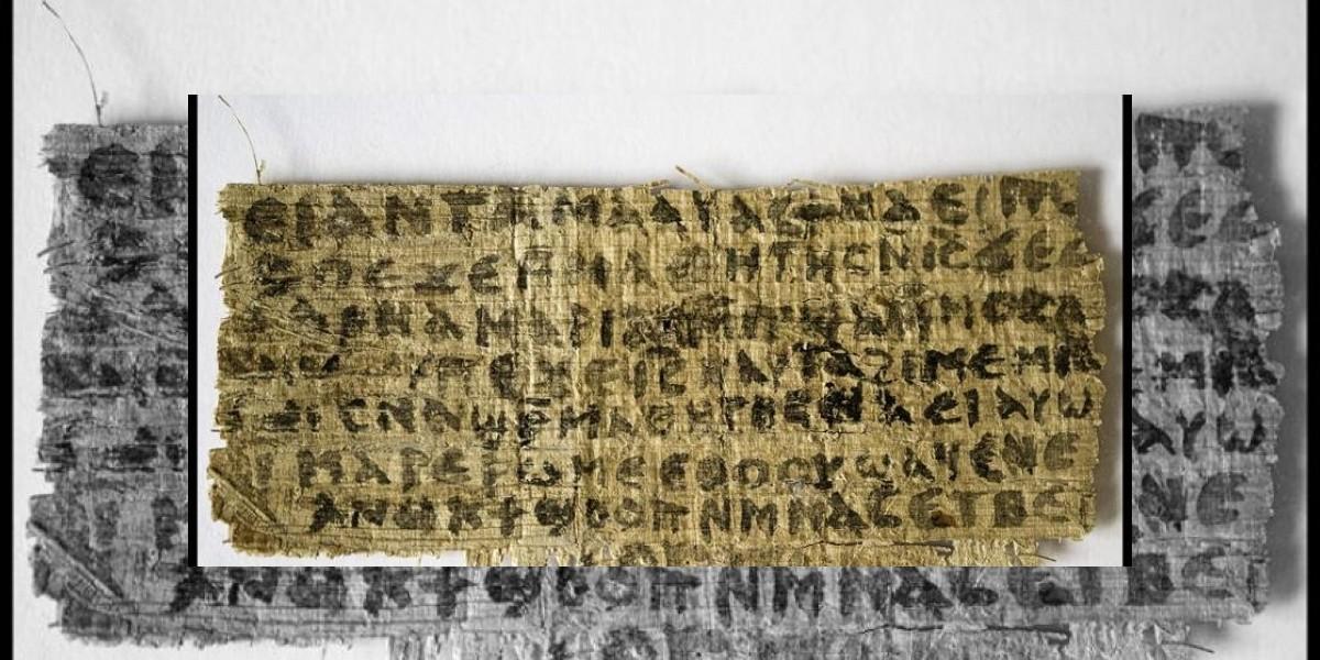 Fragmento de un papiro del siglo IV asegura que Jesús habría tenido esposa