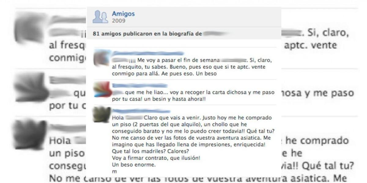 Transpira y borra: Mensajes privados aparecen en el muro de Facebook