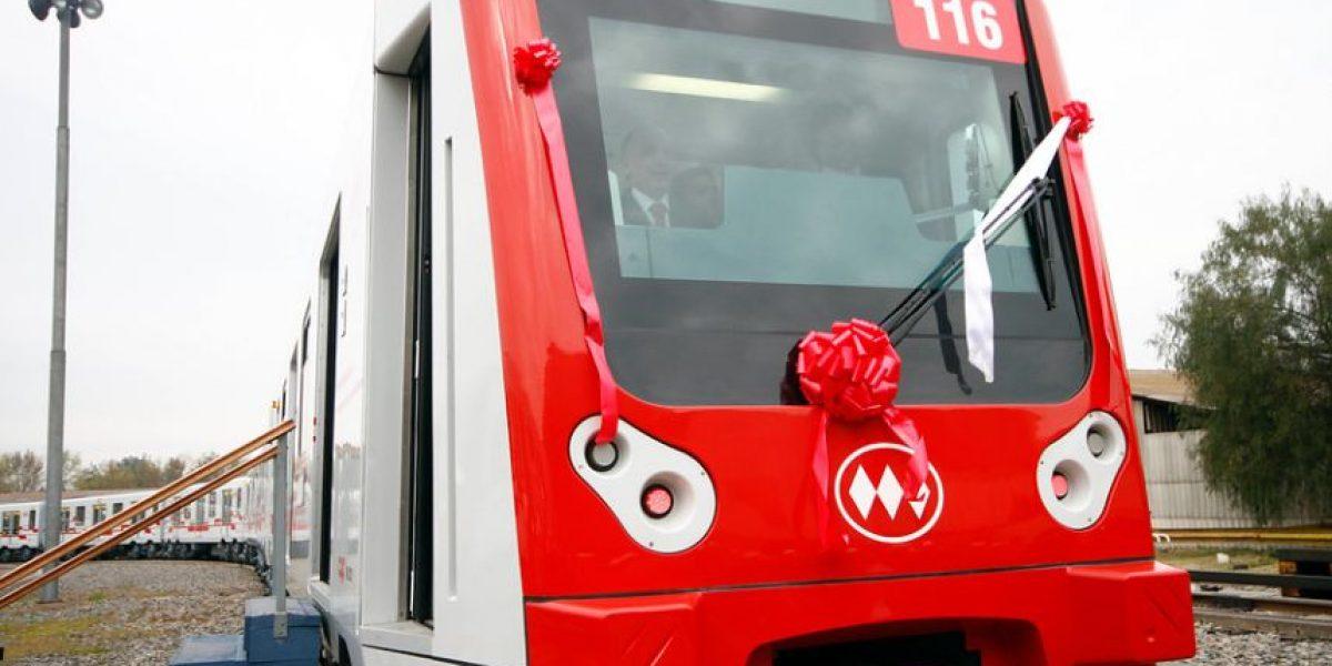 [FOTOS] Este es el nuevo tren con aire acondicionado del Metro de Santiago