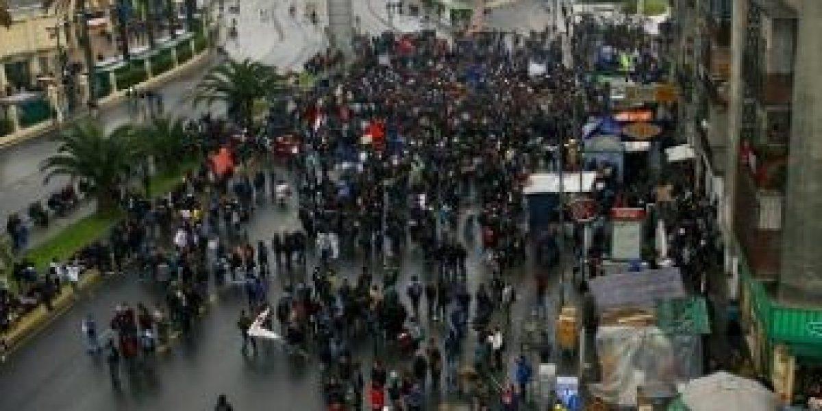 [FOTOS] Primeras imágenes de la marcha estudiantil de este 27 de septiembre