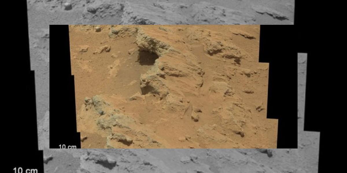 Imagen del Curiosity muestra antiguo flujo de agua en Marte