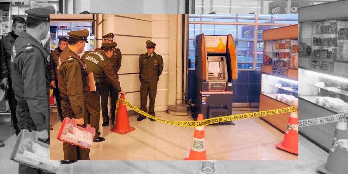 Sujetos roban cajero automático sin dinero