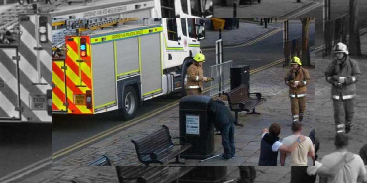 Rescatan a hombre al que se le quedó atrapada la cabeza en un basurero