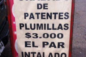 """En los estacionamientos del Persa Biobío se olvidaron de poner la """"s"""" en la palabra instalan. Foto:Scoopshot / Díaz. Imagen Por:"""