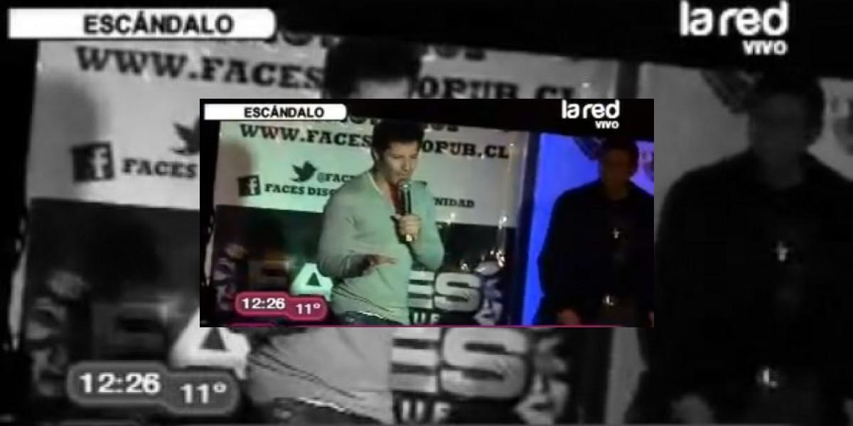 [VIDEO] Cristián Arriagada arranca tras pifias en evento