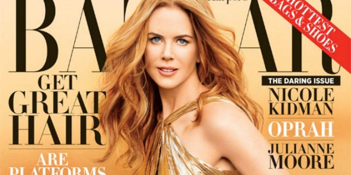 Nicole Kidman deslumbra en portada de revista a sus 45 años