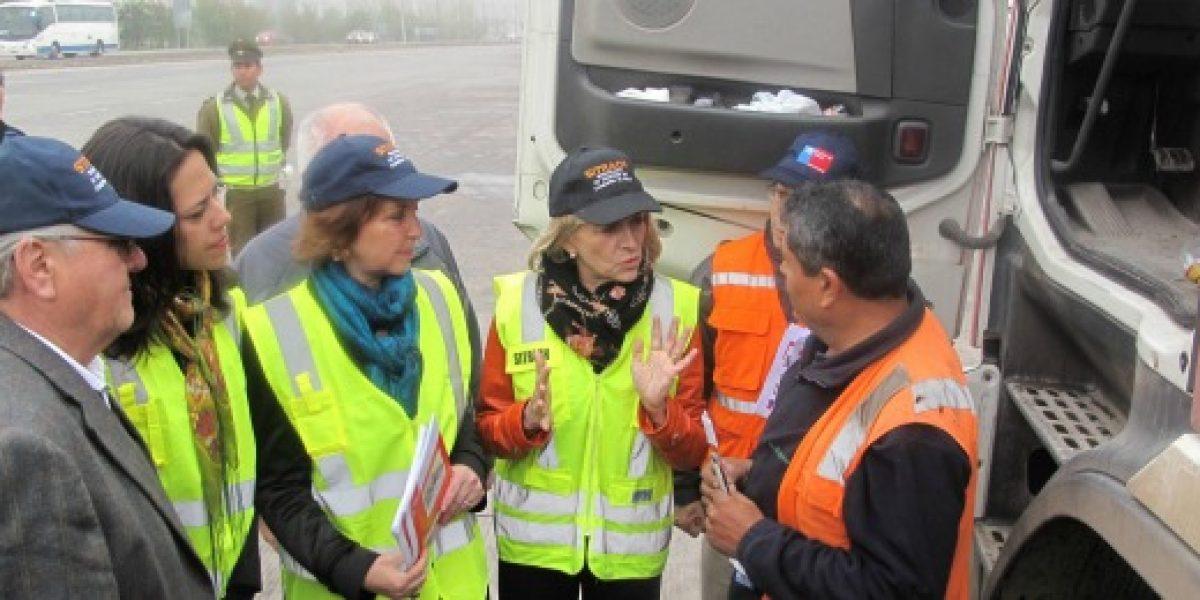 Ministra Matthei lidera campaña para evitar accidentes por fatiga en conductores de camiones