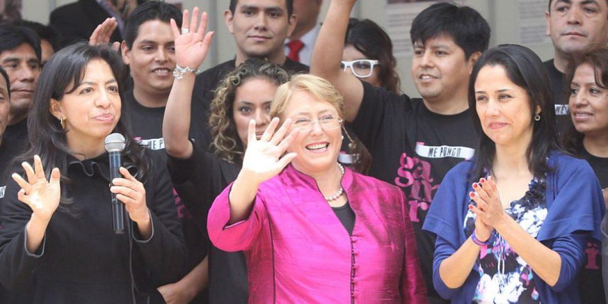 [FOTOS] Ex Presidenta Bachelet lidera reunión con mujeres y Hillary Clinton en Lima