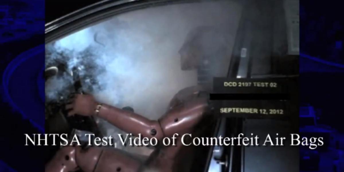 Ojo con los airbags falsos que se venden por internet
