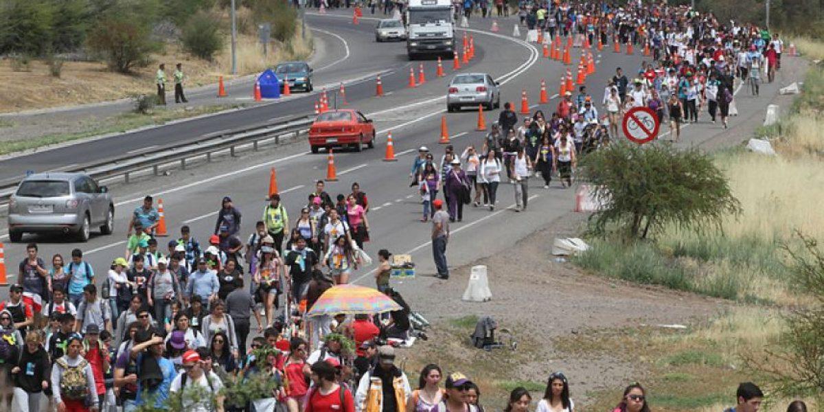 Más de 70 mil jóvenes peregrinaron al Santuario de Santa Teresa
