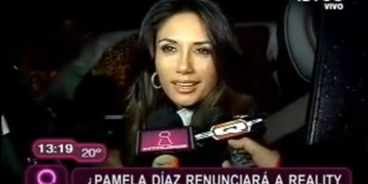 Pamela Díaz renunciaría a reality tras detención de Neira