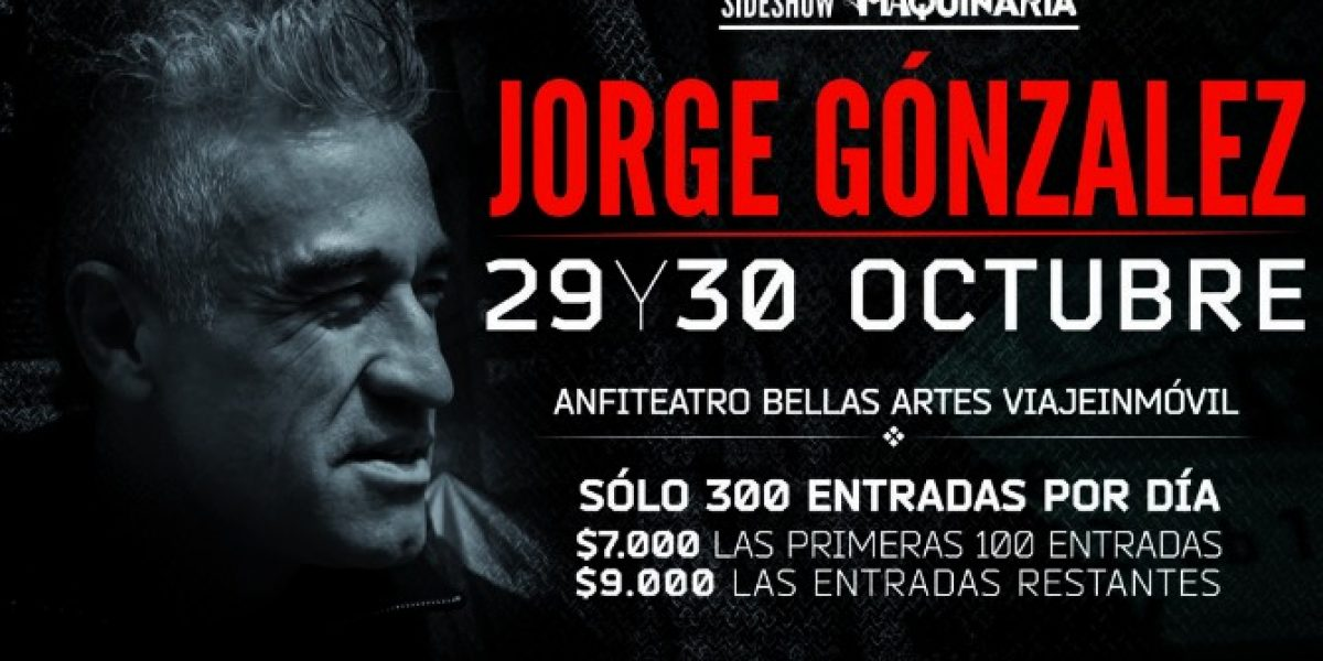 Sides Show Maquinaria: Jorge González y Pánico agotan preventa