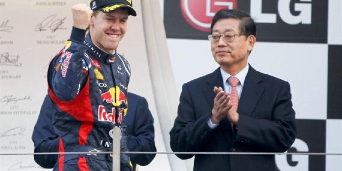 Sebastian Vettel gana por una cabeza
