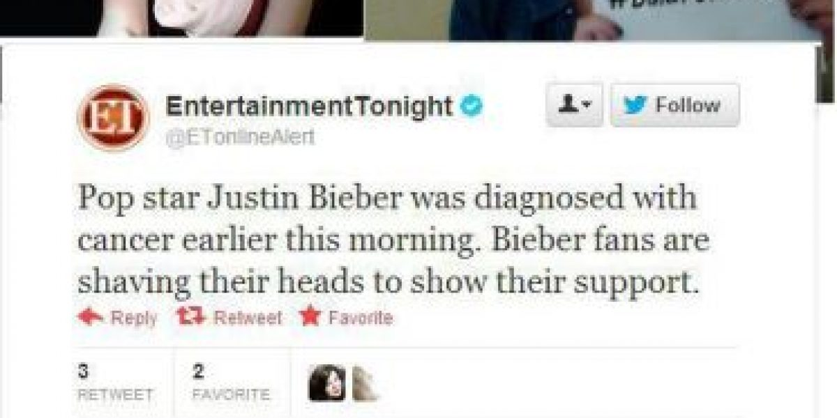 Las fans de Justin Bieber se rapan por error tras rumor en Twitter