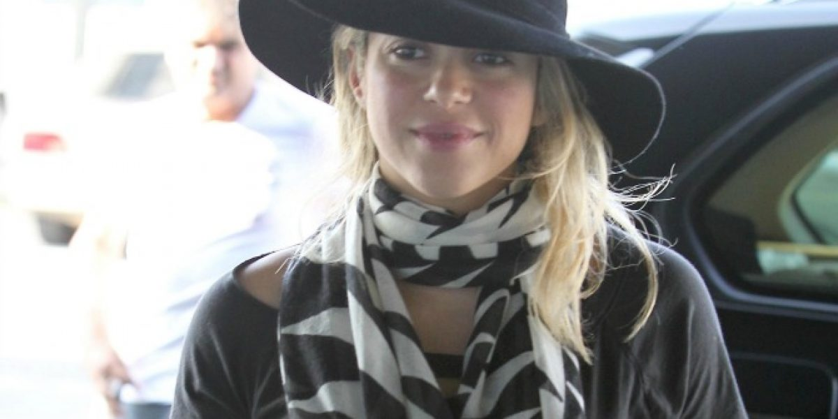 Así luce Shakira su embarazo en Barcelona
