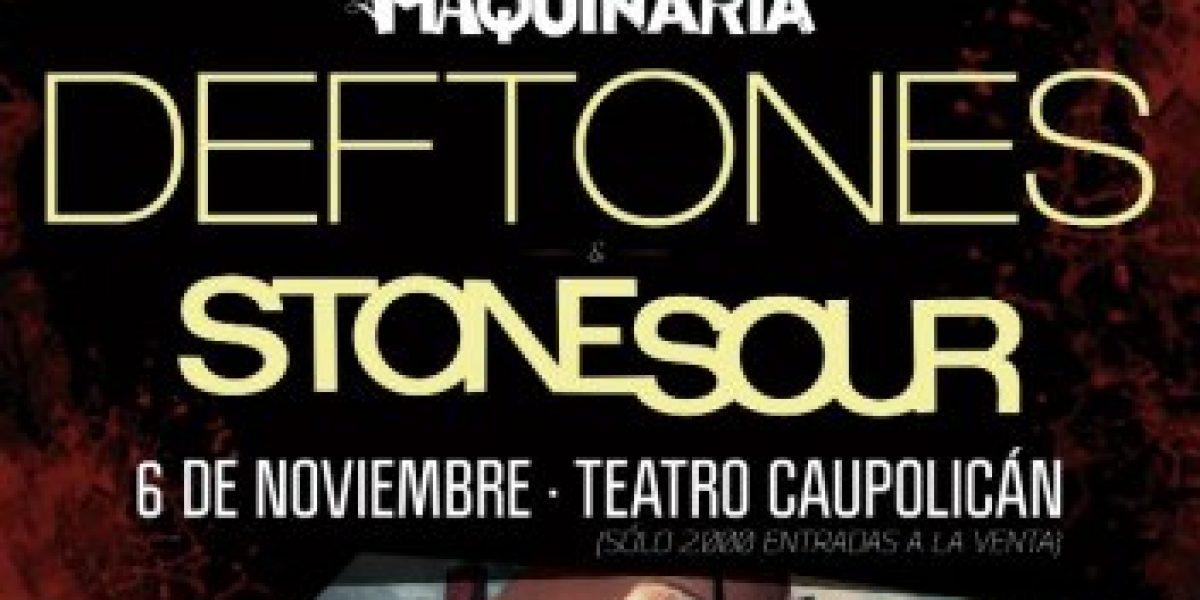 Maquinaria: Show previo de Deftones y Stone Sour agota entradas en 10 horas