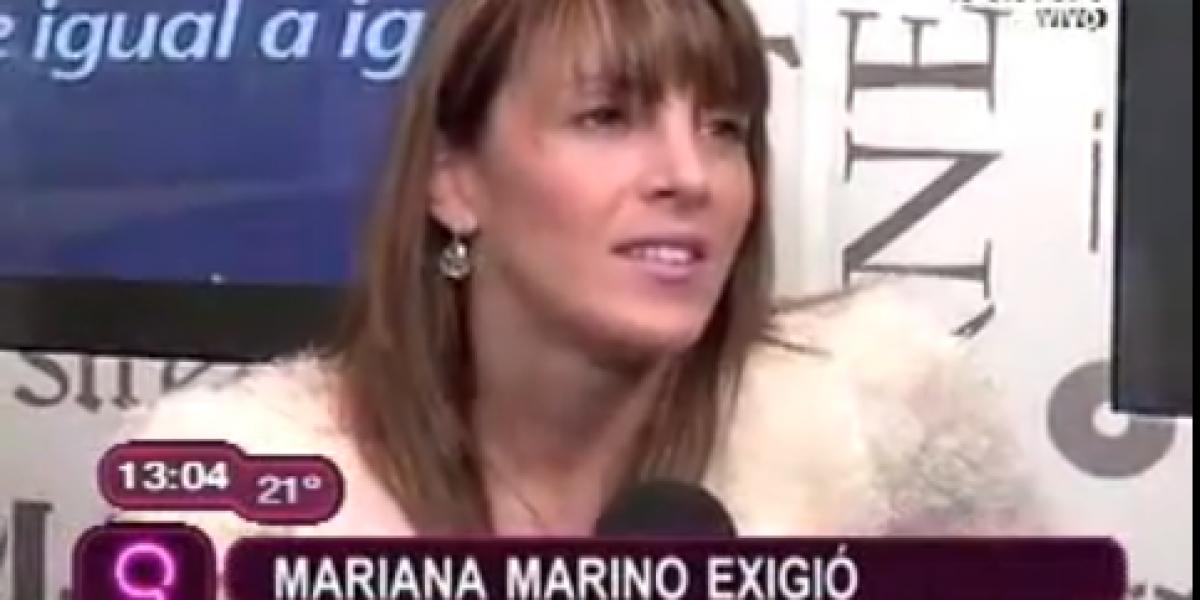 Mariana Marino exigió que Roca no estuviera en