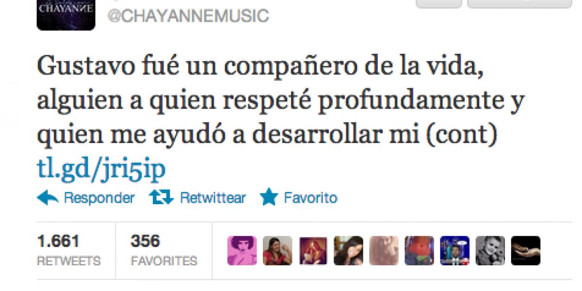 Chayanne expresó su dolor por la muerte de Gustavo Sánchez en Twitter