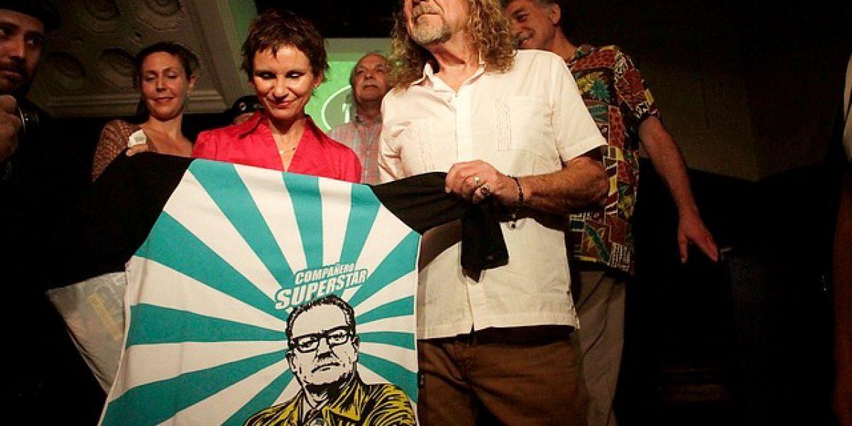 Robert Plant se reúne con Carolina Tohá y Los Jaivas en Santiago
