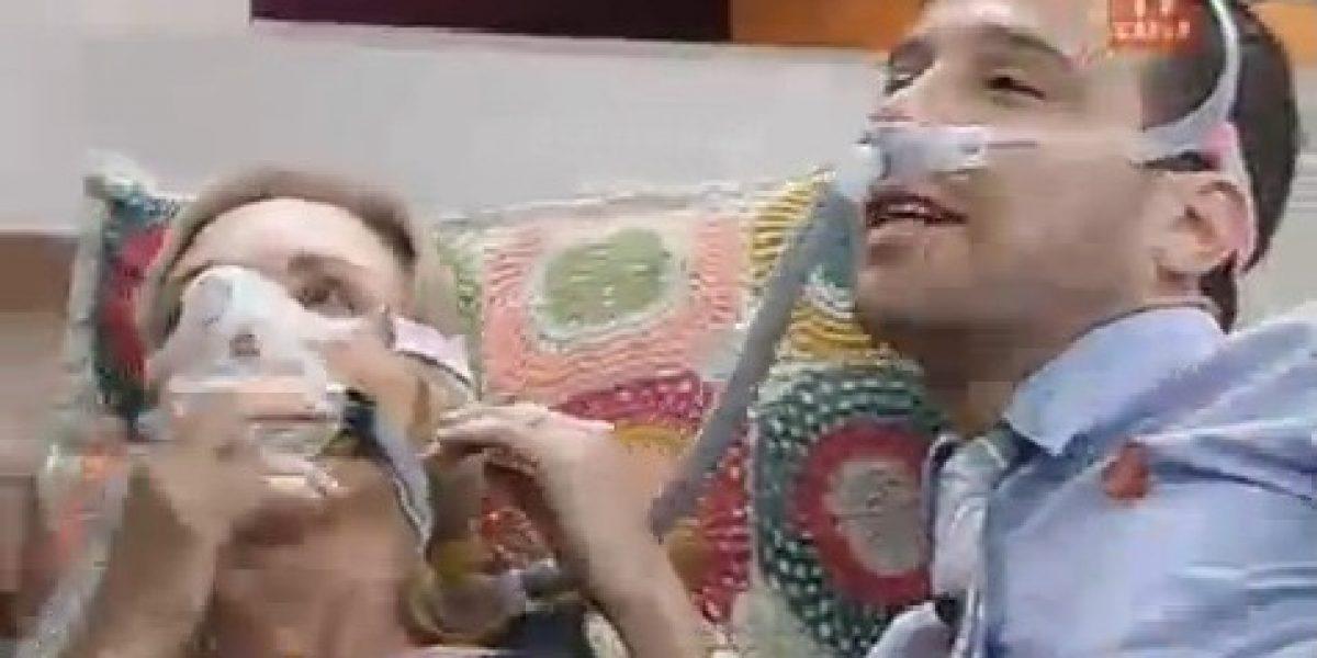 BDAT: Karen y Julián se ofrecen para probar extraña máscara contra ronquidos