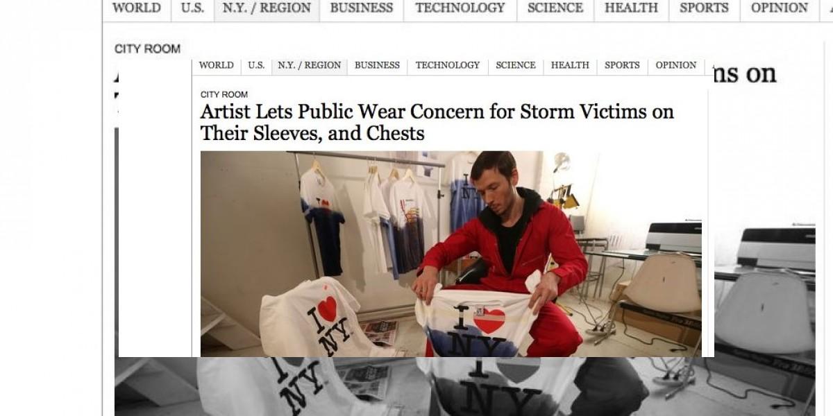 Diseñador chileno crea estas poleras y revoluciona Nueva York
