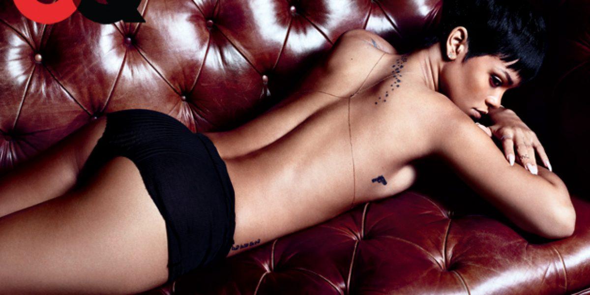 Rihanna se destapa para sesión de fotos de revista GQ