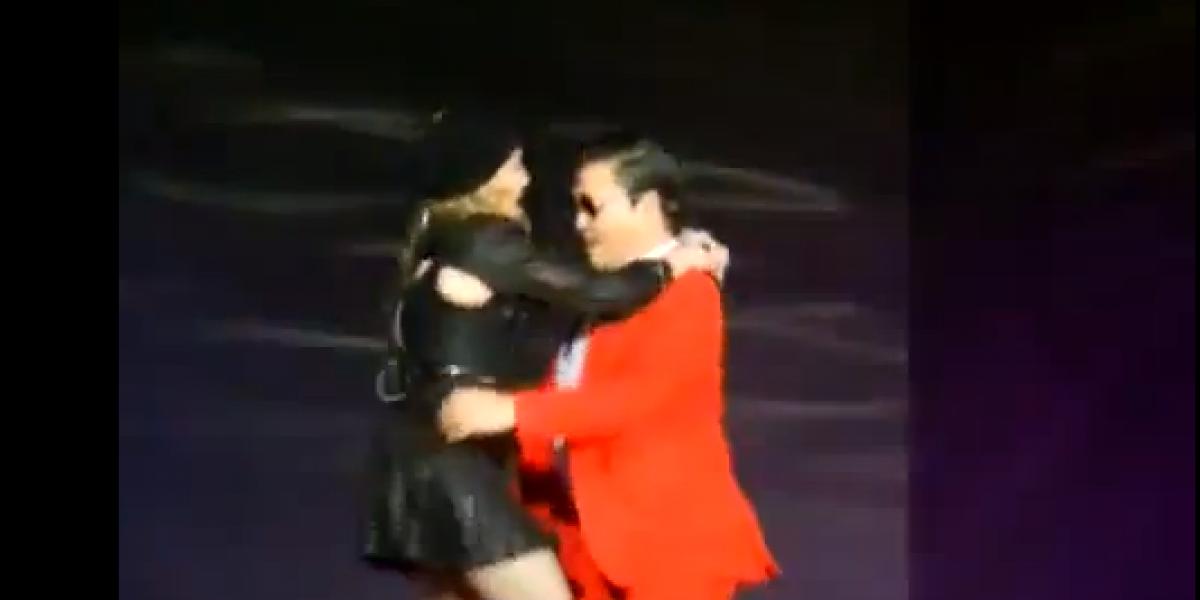 Increíble: PSY aparece en show de Madonna para bailar Gangnam Style