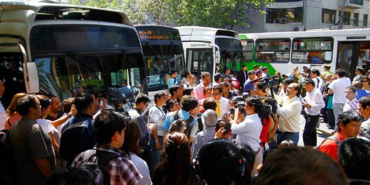 Ranking de desempeño de las siete empresas de buses del Transantiago
