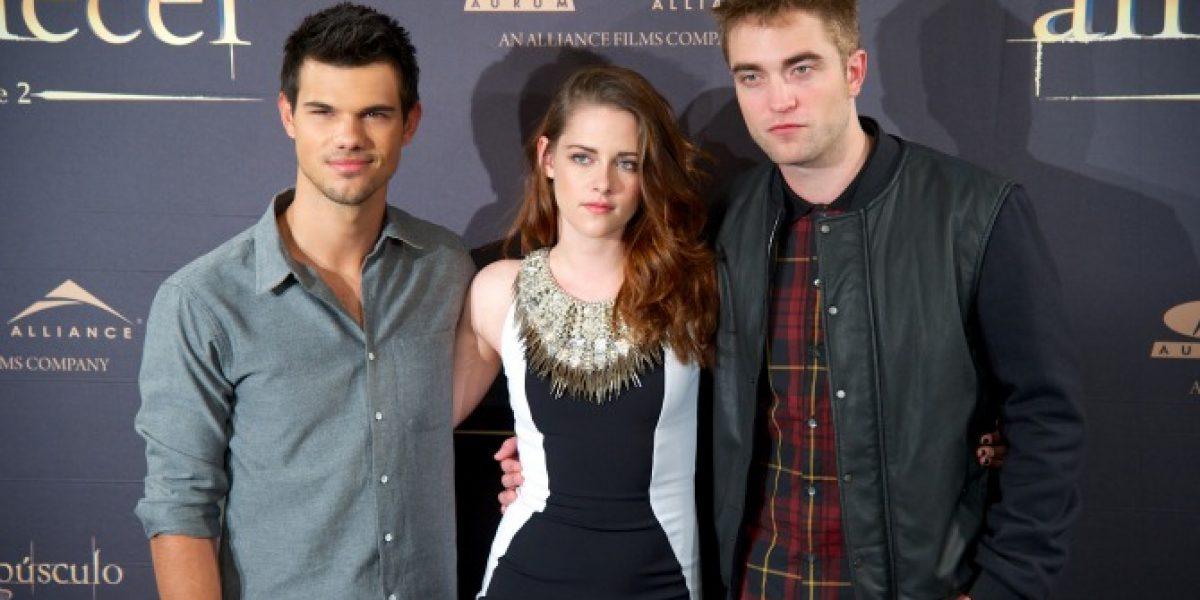 Taylor Lautner, Kristen Stewart y Robert Pattinson llegan a Madrid para promocionar