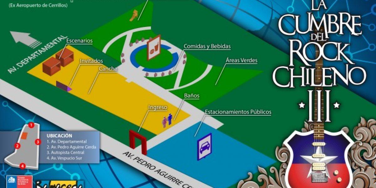 Revisa las coordenadas de La Cumbre del Rock Chileno
