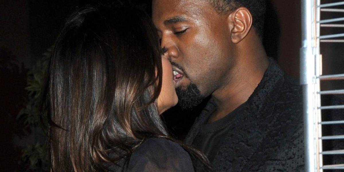 Kim Kardashian y Kanye West a los besos tras fiesta familiar