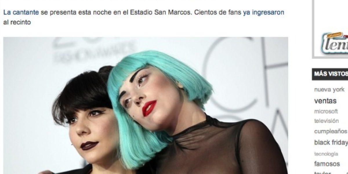 Lady Gaga llegó a Perú con su hermana, Baby Gaga