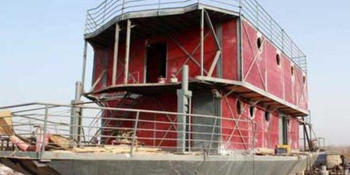 Esta es el arca que construye un chino para el
