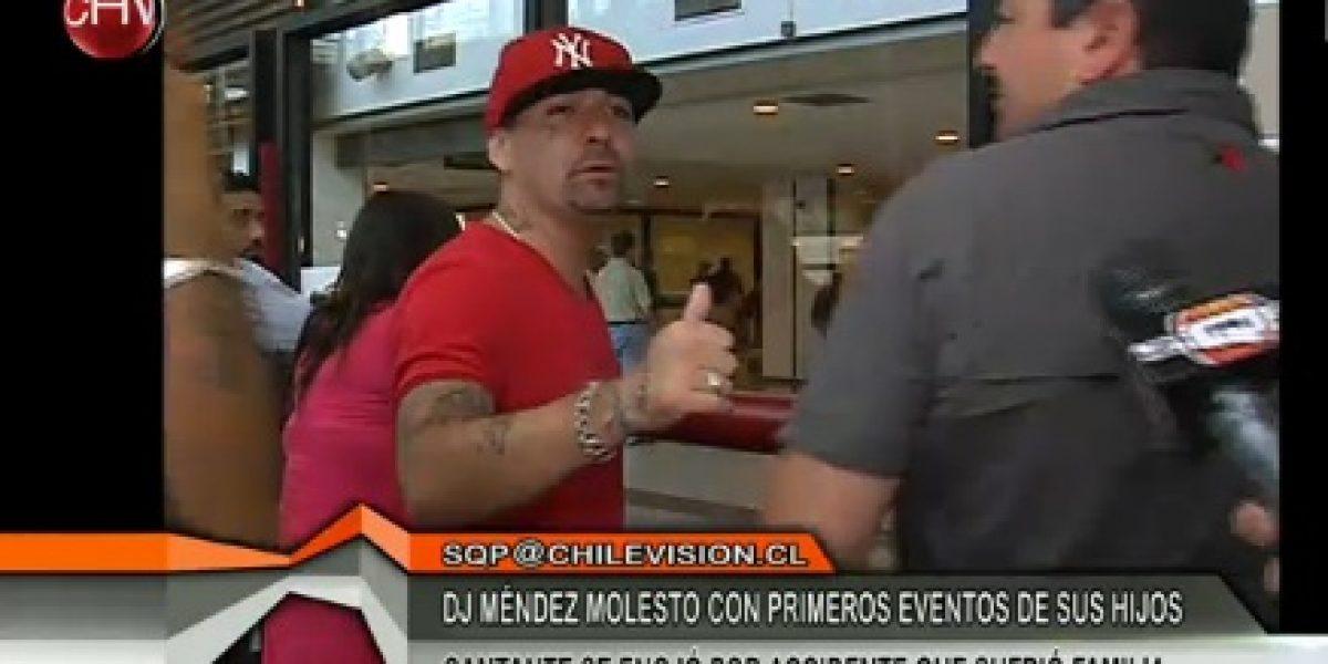 Dj Méndez indignado por primer evento de sus hijos