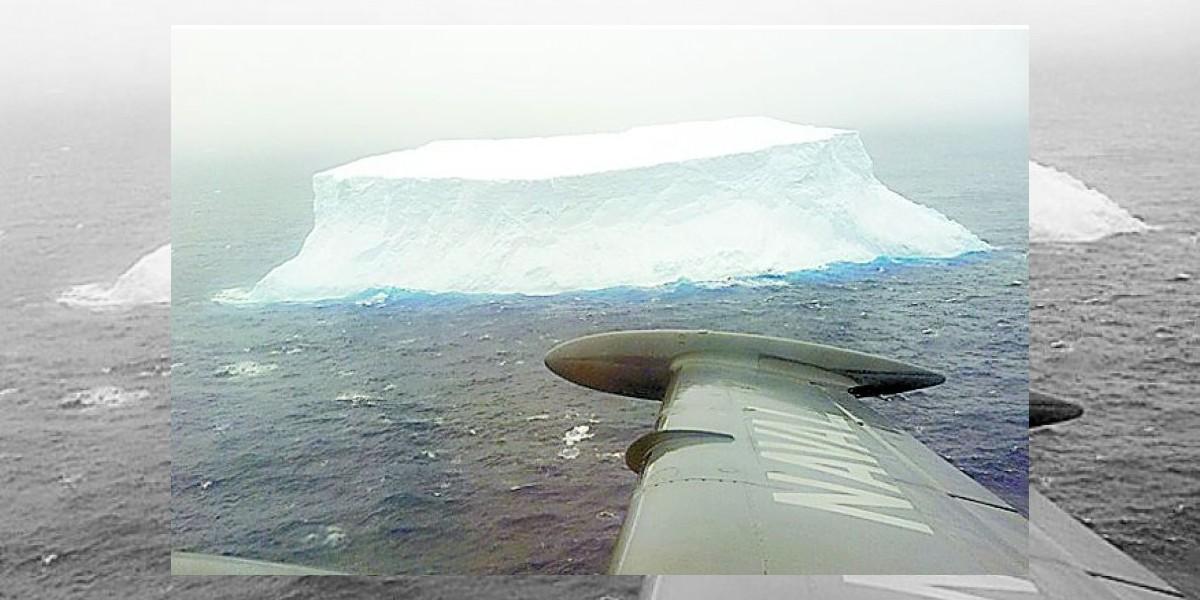 Avistan un iceberg a la deriva en los mares del sur del país