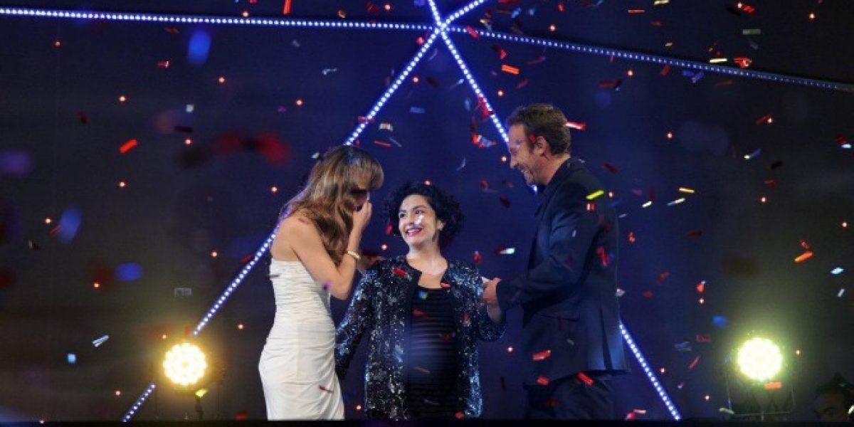 Una embarazada Tamara Acosta gana