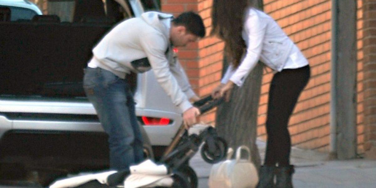 Captan las primeras imágenes de Messi, su mujer y su pequeño hijo