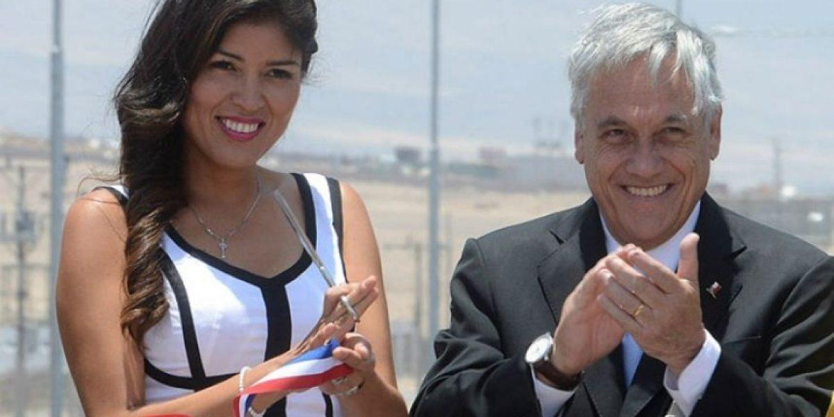 Piñera no se aguantó y piropeó a la alcaldesa de Antofagasta en público