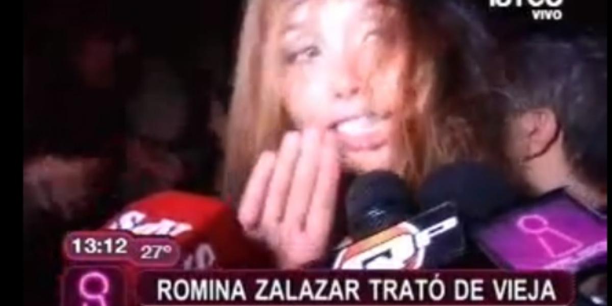 Romina Zalazar terminó ebria y haciendo escándalo en evento