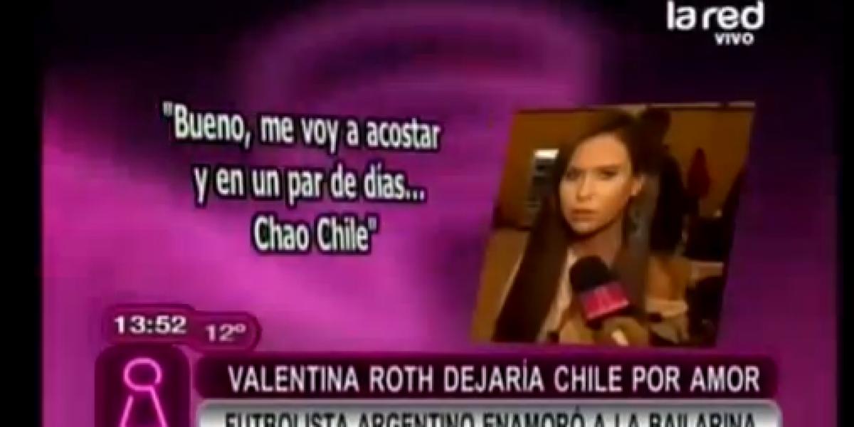 Intrusos: Vale Roth dejaría Chile por amor