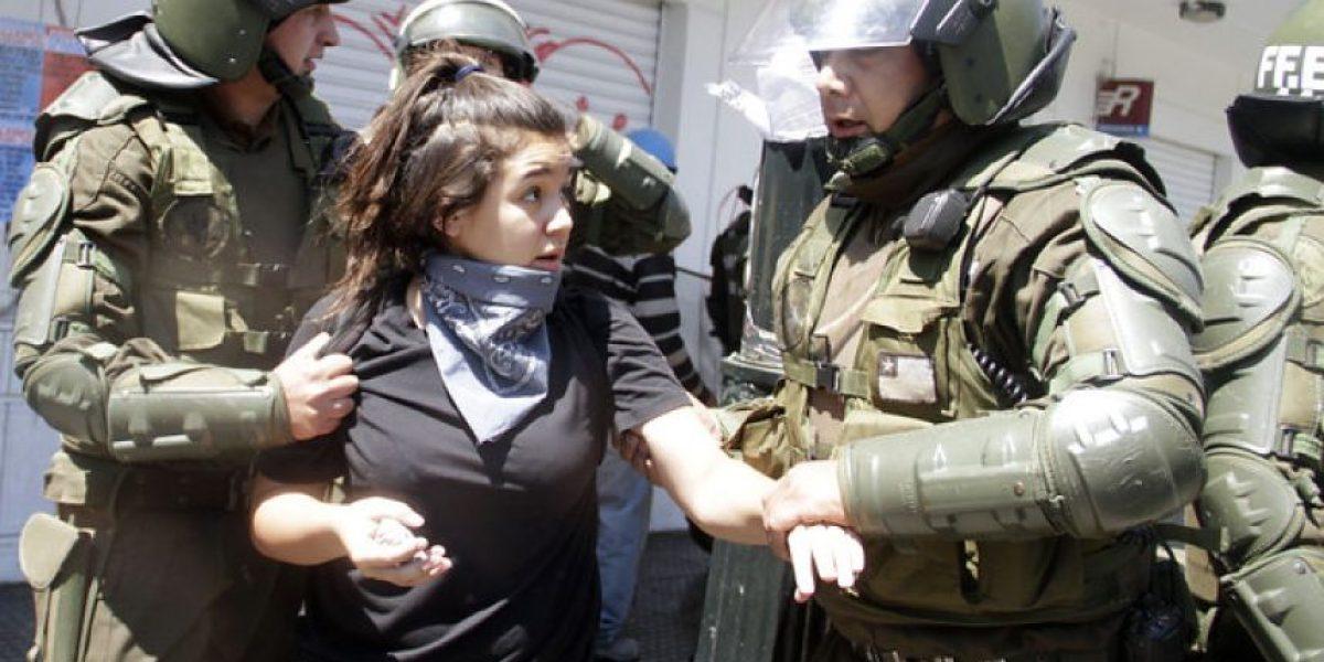 Marcha de estudiantes en la Alameda provoca graves incidentes