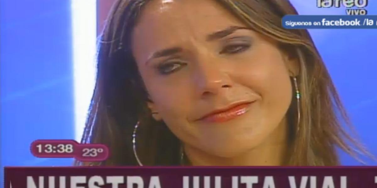 La emotiva y llorada despedida de Julia Vial de