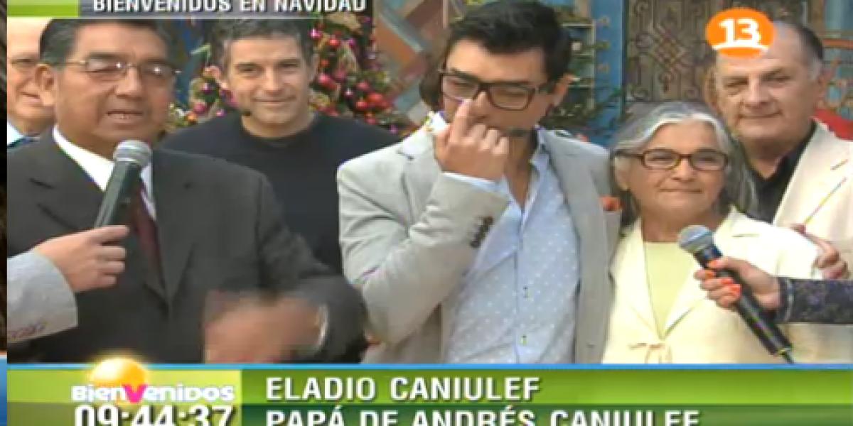 Bienvenidos: Emotivo encuentro con sus padres deja llorando a Andrés Caniulef