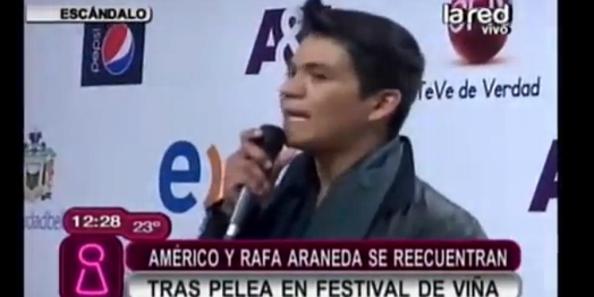 Américo y Rafa Araneda se reencuentran tras pelea en el Festival de Viña