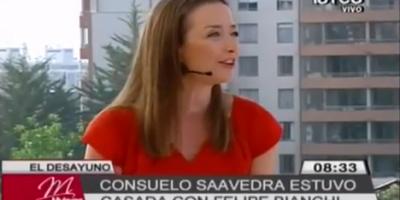 Consuelo Saavedra habló de su pasado matrimonio con Felipe Bianchi