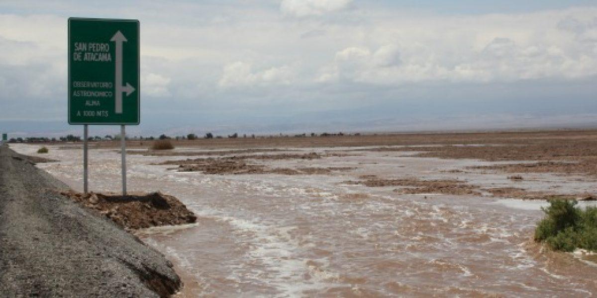 Frente de mal tiempo tiene operando de forma parcial turismo en San Pedro de Atacama