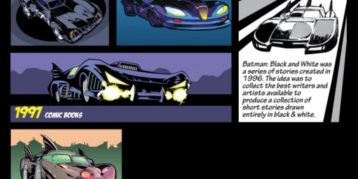 La evolución del Batimóvil en bocetos de cómic