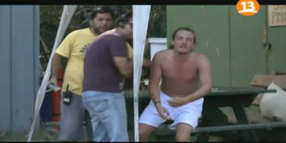 Canal 13 muestra imágenes del día de furia de